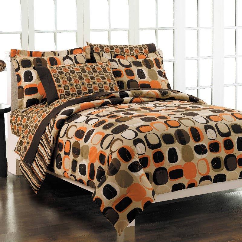 Opus Orange Bed in a Bag with Sheet Set