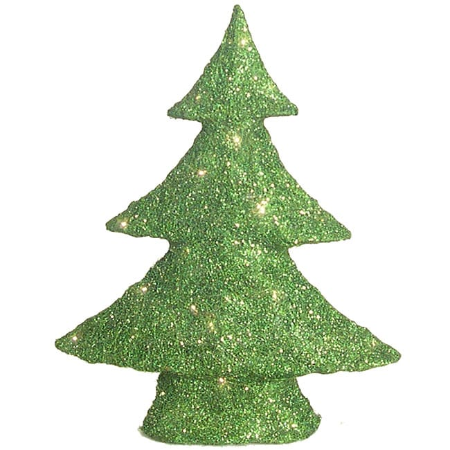 Green 24-inch Decorative Sisal Tree with LED Lights