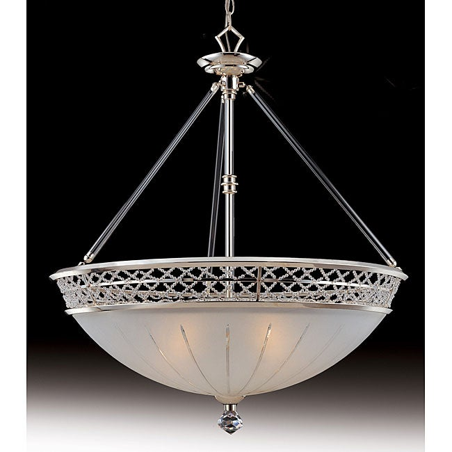 Cristallo 5 Light Frosted Glass Large Bowl Pendant Free