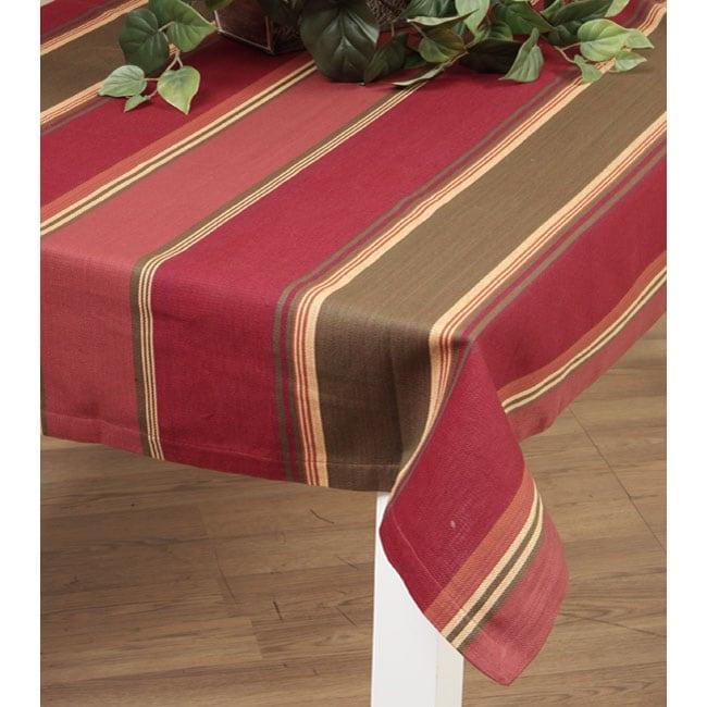 Delightful Tuscan Stripe Table Cloth