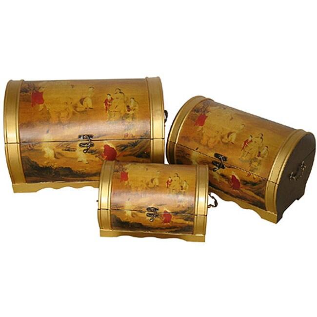 Set of 3 Elephant Magic Storage Boxes (China)
