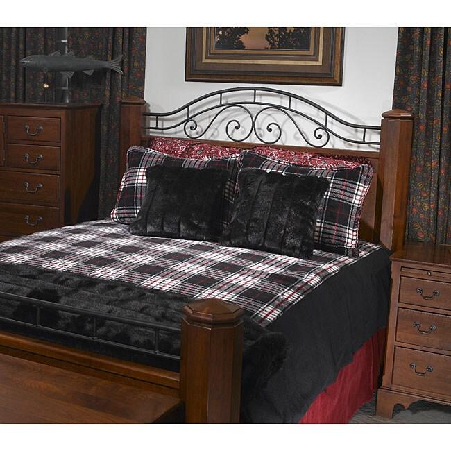 Black Plaid King-size Denali Duvet Cover
