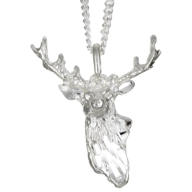 Sterling Essentials Sterling Silver Deer Hunter Necklace