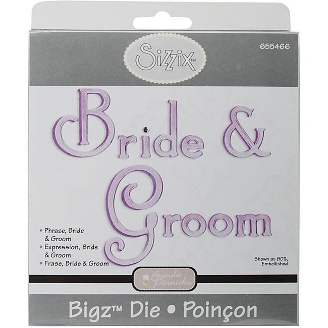 Sizzix Bigz BIGkick/ Big Shot Bride and Groom Phrase Die