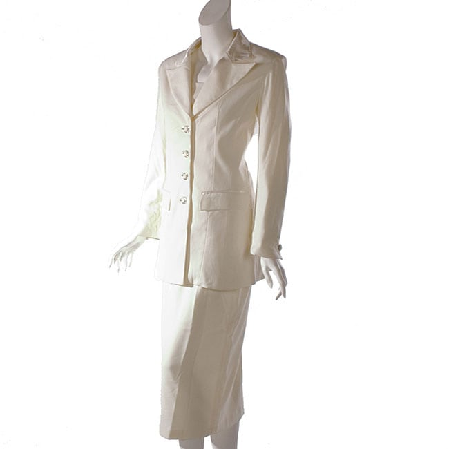 GMI Women's Ivory Skirt Suit