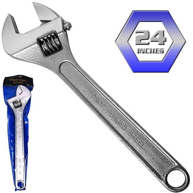 Heavy-duty 24-inch Forged Steel Adjustable Wrench