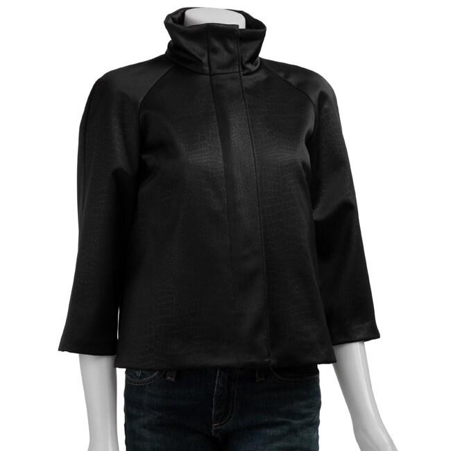 7535dd538392 Shop MICHAEL Michael Kors Women s 3 4-sleeve High Collar Jacket - Free  Shipping Today - Overstock - 3504038