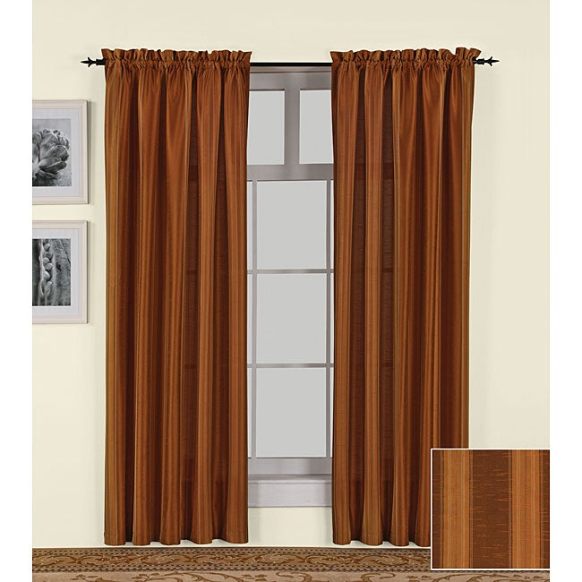 Curtains Ideas 54 curtain panels : Lexington Rust Curtain Panel Pair (54 in. x 84 in.) - Free ...