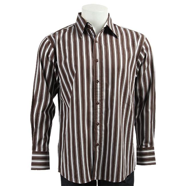 Bruno Men's Striped Woven Shirt