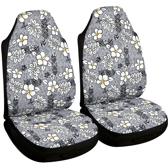 Hawaiian Grey Automotive Seat Covers (Set Of 2)