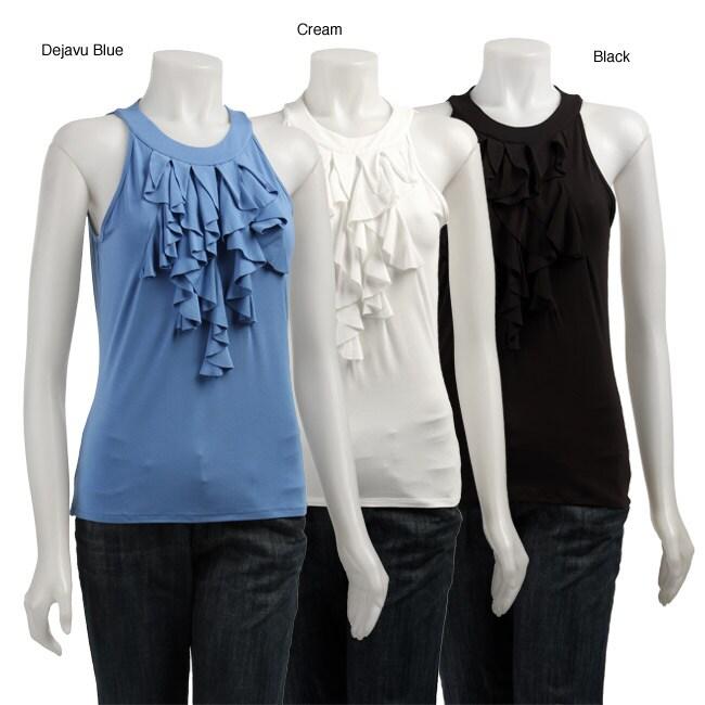 FINAL SALE August Silk Women's Sleeveless Ruffle Top