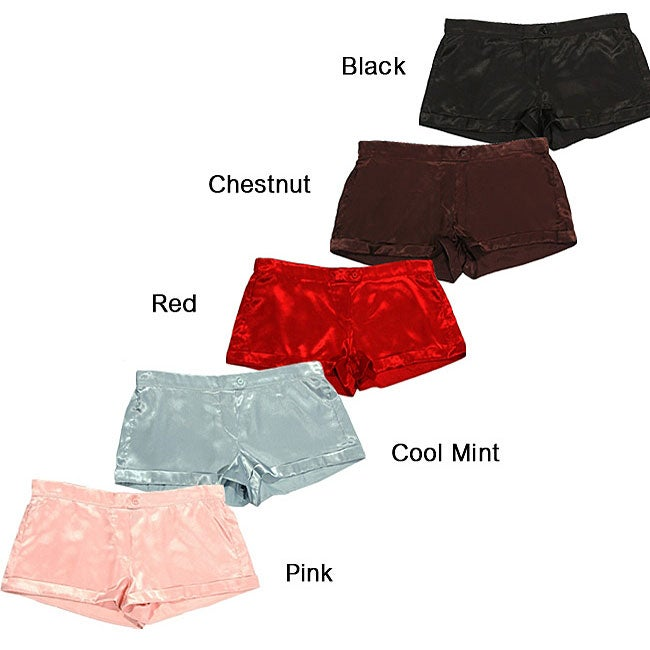 Mystic Clothing Women's Satin Boxer Shorts (Pack of 5)