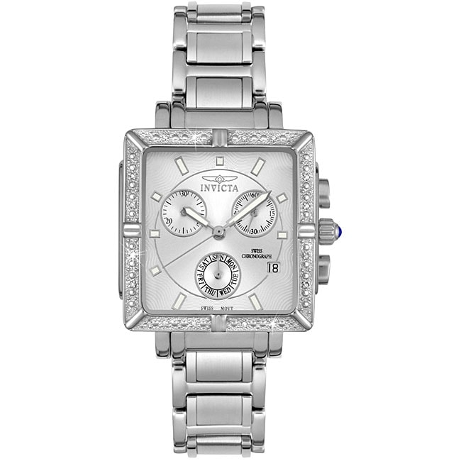 Invicta Women's Steel Chronograph Diamond Watch