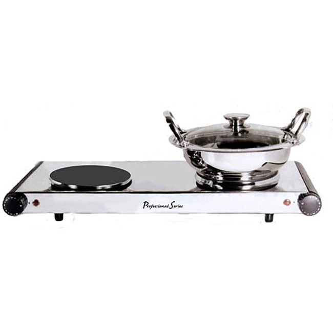 Continental Pro Series Double-burner Hot Plate