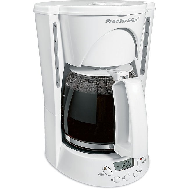 Shop Proctor Silex 48571 12 Cup White Coffee Maker Free