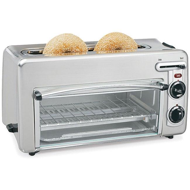 Hamilton Beach Metal Toast Station Toaster/ Toaster Oven