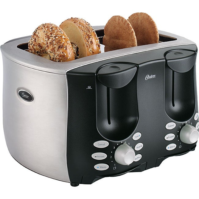 Oster Toaster 4 Slice Side By Side Stainless Steel Toaster
