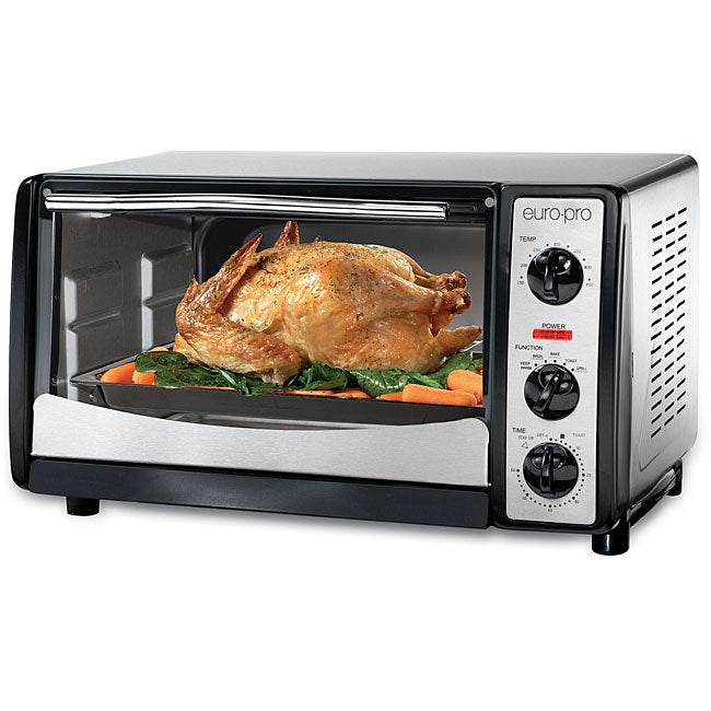 Euro Pro Brushed Stainless Steel Convection Oven - Free Shipping Today ...