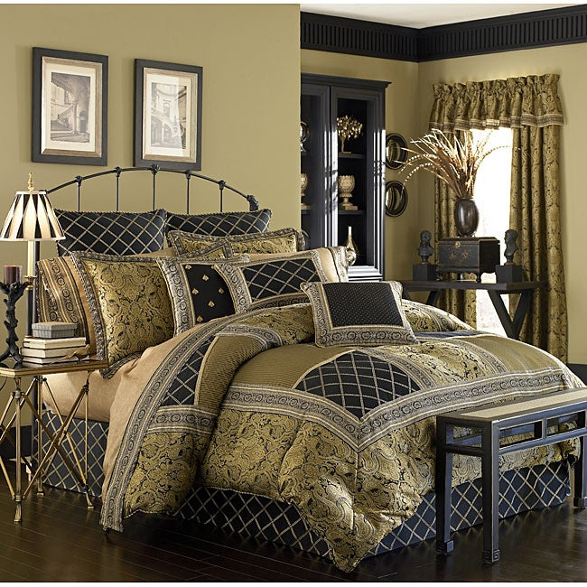 51a8c453cb Shop Croscill Onyx 4-piece Comforter Set - Free Shipping Today - Overstock  - 3512129