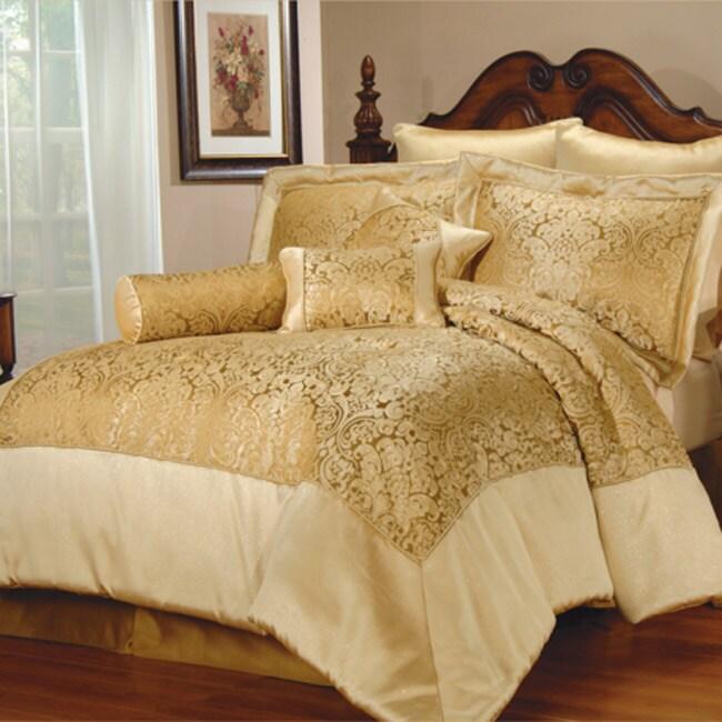 Brussels 7-piece Gold Comforter Set