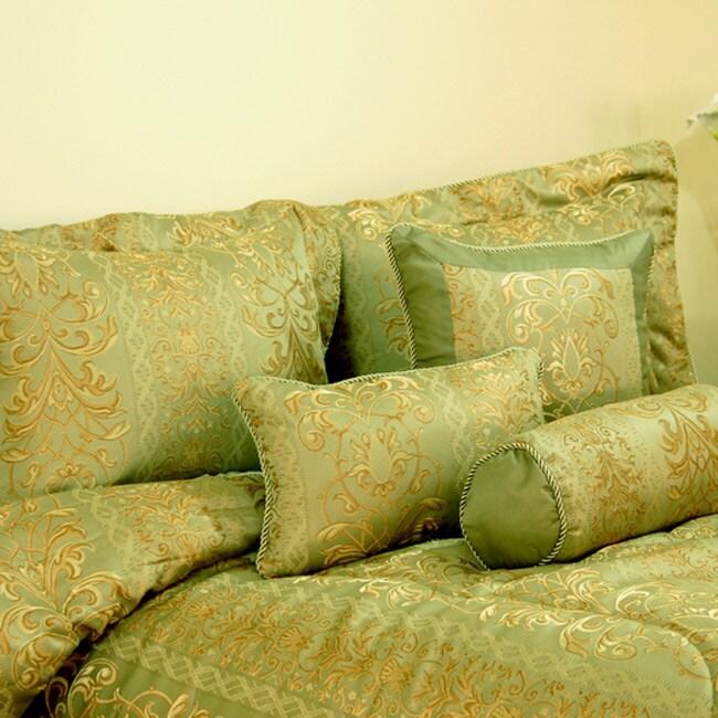 Perla 7-piece Sage Comforter Set