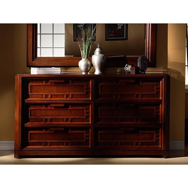Kyomi Asian-style Six-drawer Dresser
