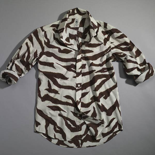 Hickey Zebra Print Men's Sport Shirt