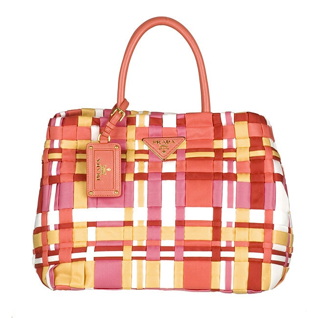 ee28176e6078 Shop Prada Tessuto Woven Nylon Tote - Free Shipping Today ...
