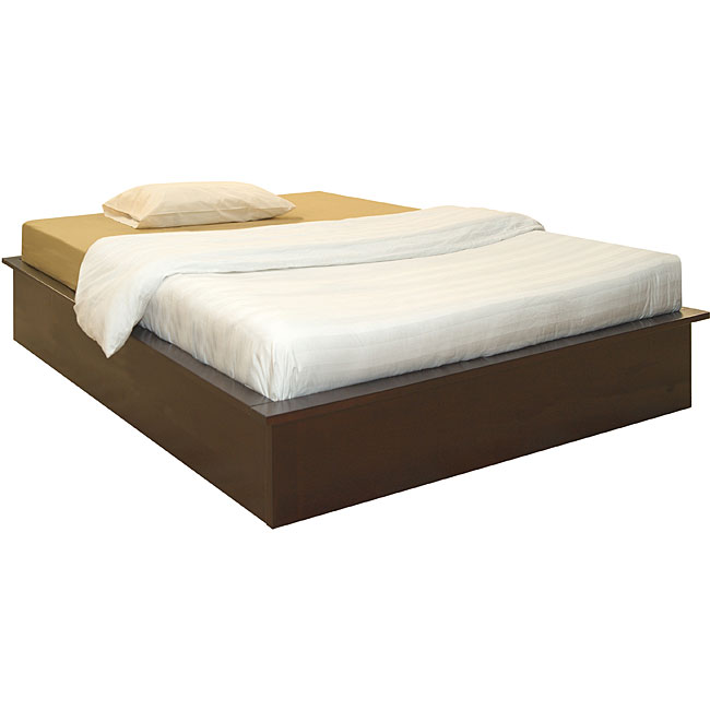 uptown low profile espresso queen platform bed