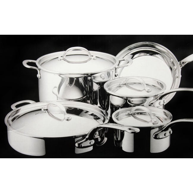 Shop KitchenAid Stainless Steel 9-piece Cookware Set - Free Shipping on rachael ray pots and pans, hello kitty pots and pans, big lots pots and pans, pink kitchen pots and pans, cuisinart pots and pans, meijer pots and pans, macy's kitchen pots and pans, paula deen pots and pans, pink play pots and pans, kitchenaid gourmet essentials brushed stainless, forever quality pots and pans,