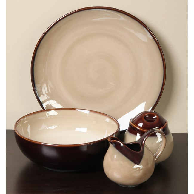 Sango Nova Brown 5-piece Dinnerware Completer Set