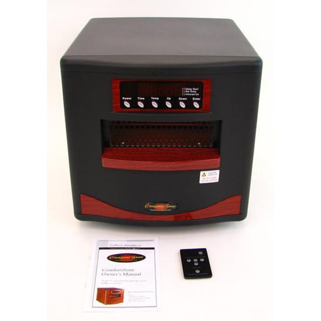 Comfort Zone Electric Portable Space Infrared Heater - Free Shipping