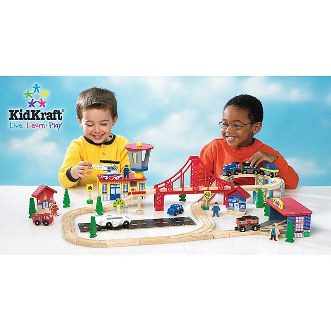 KidKraft 60-piece Transportation Toy Set