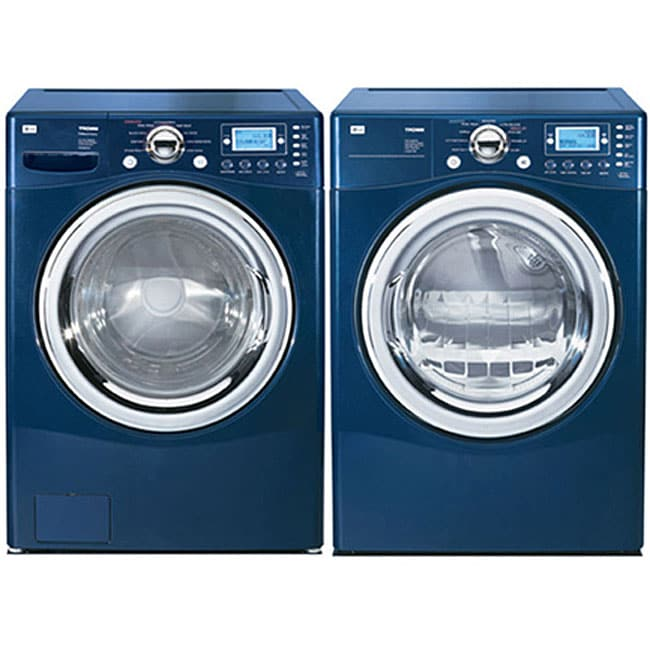 Lg Front Load Blue Steam Washer And Gas Dryer Combo Refurbished