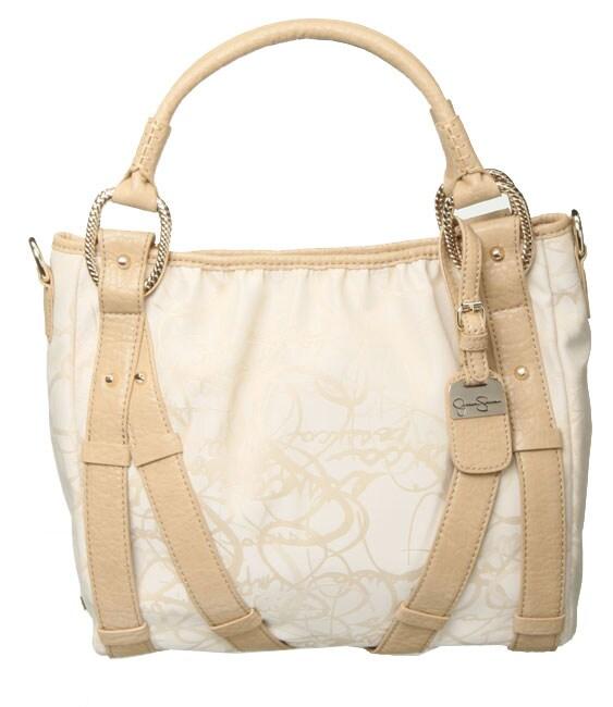 Shop Jessica Simpson Pearl Logo Tote Bag - Free Shipping Today - Overstock  - 3522121 0da3617e909d