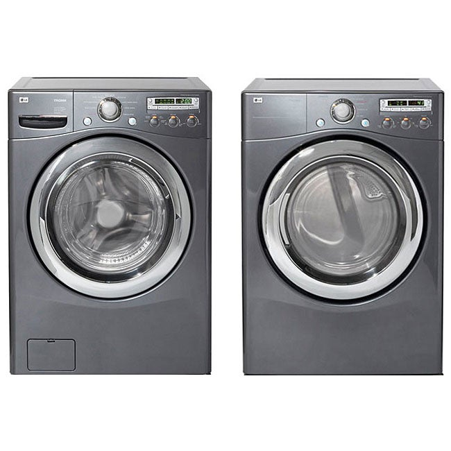 Lg Front Load Grey Washer And Electric Dryer Combo