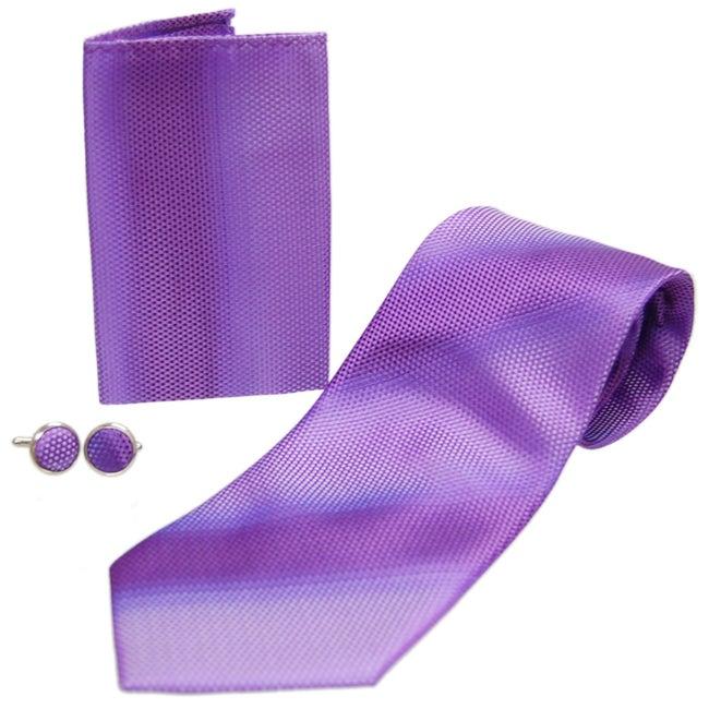 Boston Traveler Men's Microfiber Tie Set