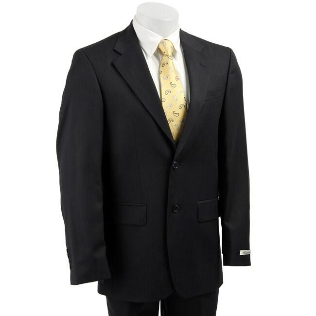 Kenneth Cole New York Men's Blue Stripe 2-button Suit
