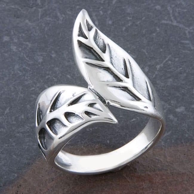 Sterling Silver 'Leaf' Design Ring (Thailand)