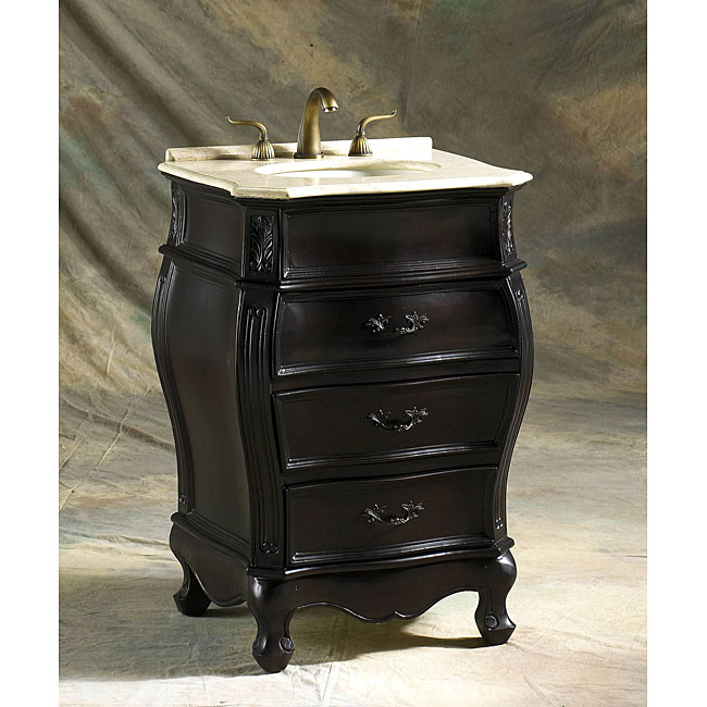 ica furniture sara 36 inch marble top espresso modern bathroom vanity