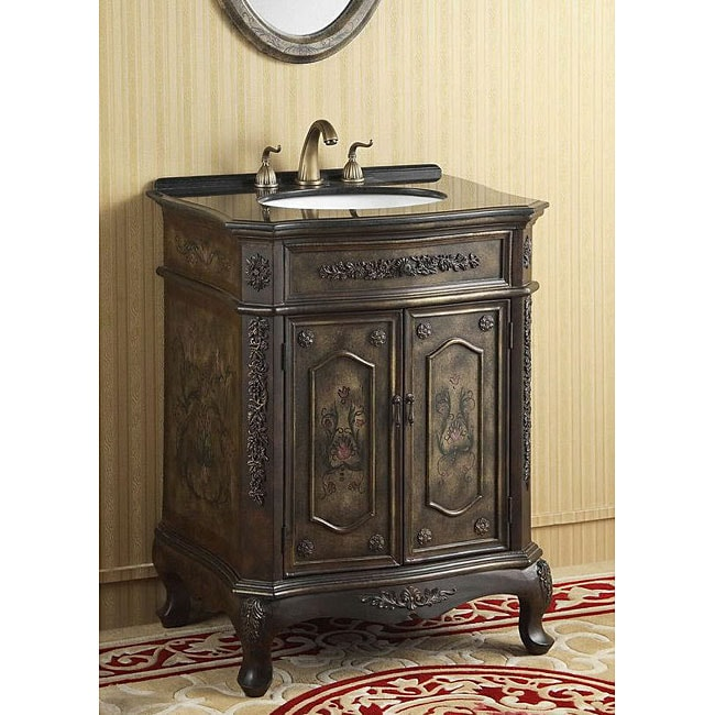 ica furniture commodus granite brass bathroom vanity free shipping