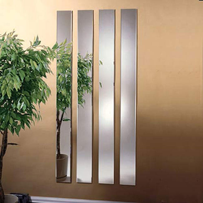 Bevelled 6 x 60 Mirror Strips (Set of 4)