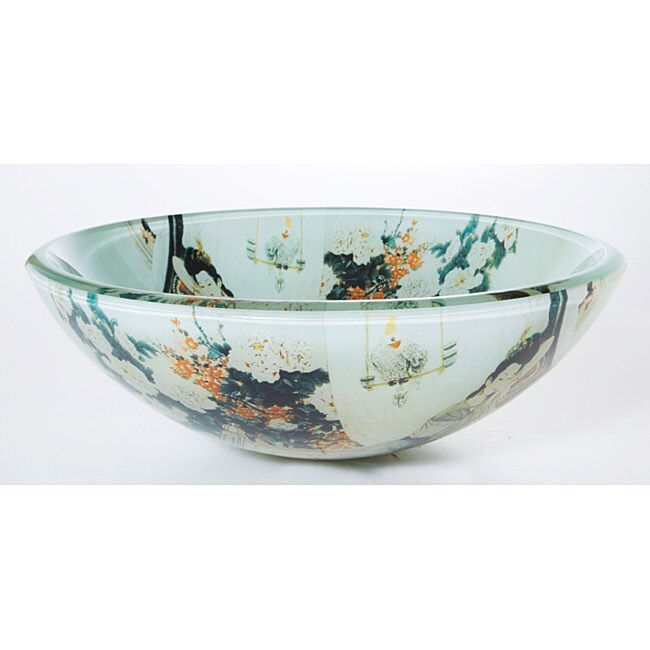 Denovo japanese art glass bathroom vessel sink free shipping today
