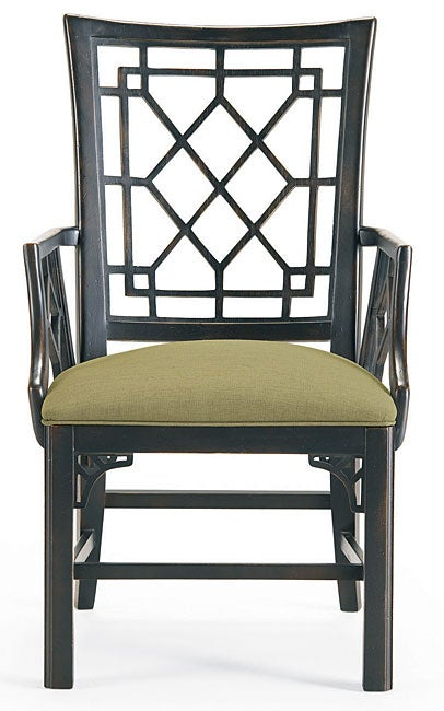 Thomasville Dining Fusion Oriental Style Chairs Set Of 2