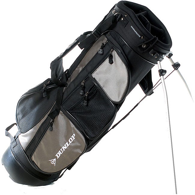 Dunlop Black Silver Dual Strap Stand Golf Bag