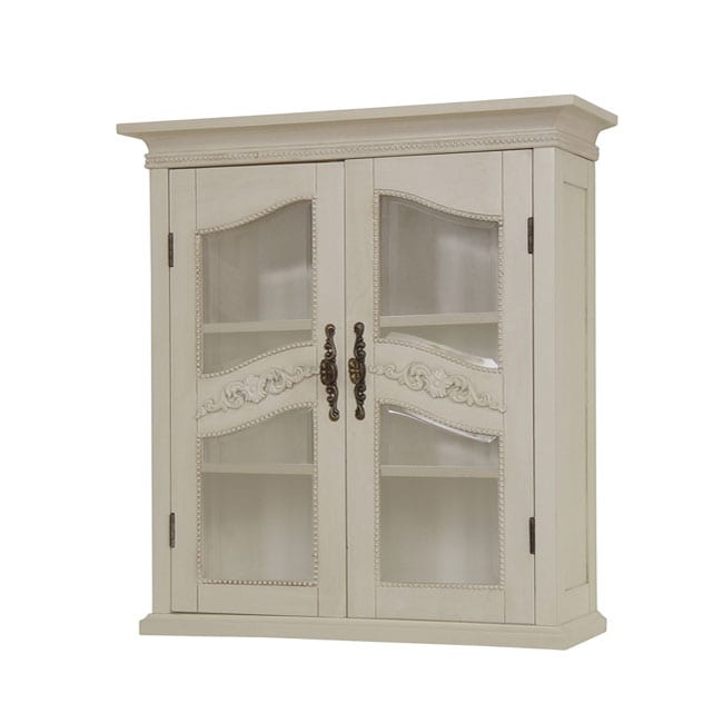 cambridge antique ivory wall cabinet free shipping today overstock