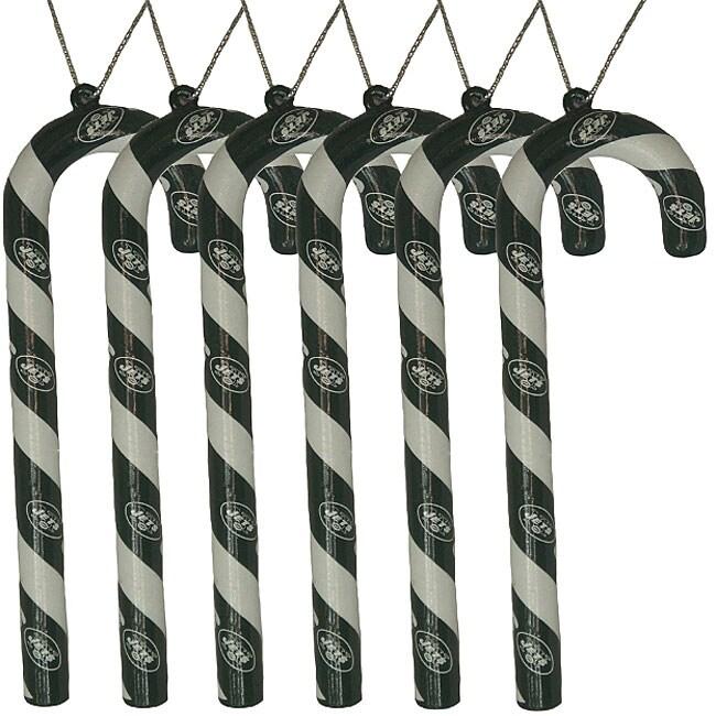 New York Jets Candy Cane Ornament Set