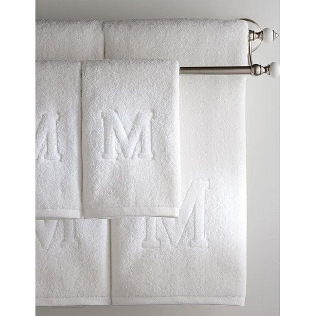 Monogrammed Auberge 6 piece Bath Towel Set  Letters  V  O  W. Monogrammed Auberge 6 piece Bath Towel Set  Letters  V  O  W