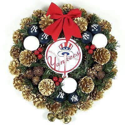 New York Yankees Christmas Door Wreath Free Shipping On