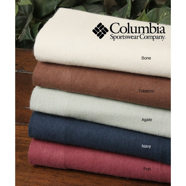 Columbia Solid Flannel Sheet Set